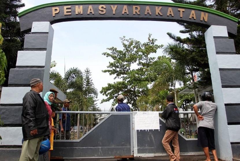 Pintu gerbang Lapas Tanjung Gusta Meda (Ilustrasi).