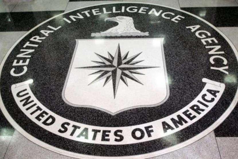 The logo of the US Central Intelligence Agency is shown in the lobby of the CIA headquarters in Langley, Virginia March 3, 2005.