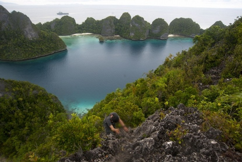 The scenery of Raja Ampat in West Papua, Indonesia (illustration)