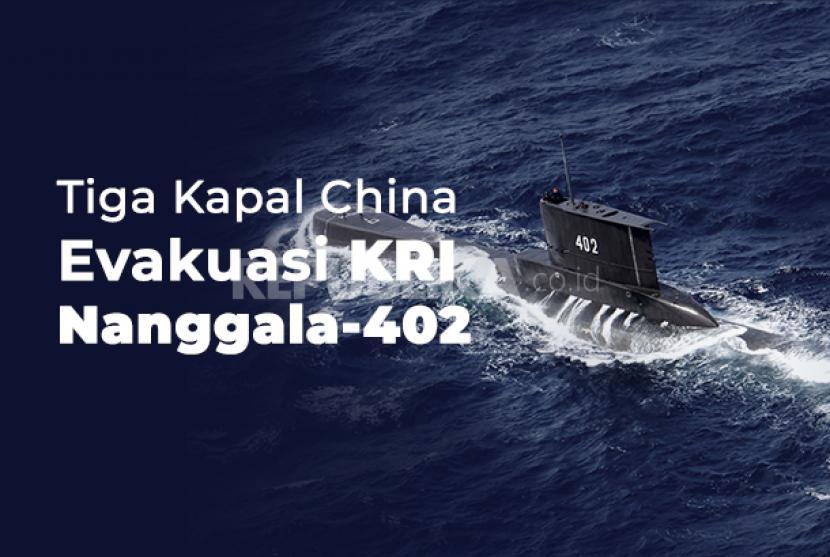 Tiga Kapal China Evakuasi KRI Nanggala 402