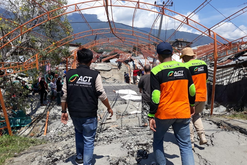Tim ACT yang sudah berada di Palu, Sulawesi Tengah.