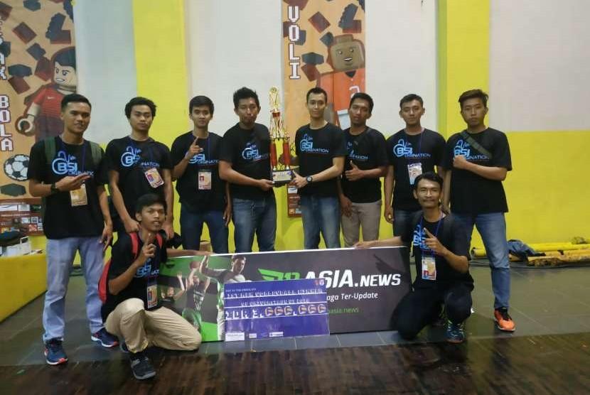 Tim Bola Voli UBSI meraih Juara Universiade UI 2018.