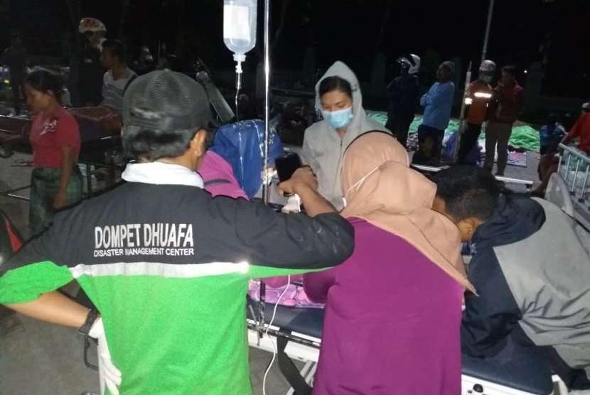 Tim Dompet Dhuafa bantu korban gempa di Lombok, NTB.