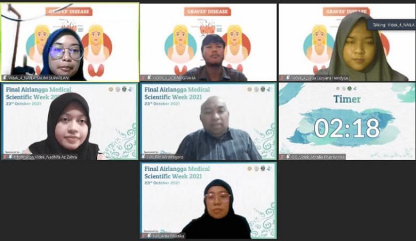 Tim mahasiswa Fakultas Kedokteran UII Yogyakarta yang berkompetisi di Airlangga Medical Scientific Week.