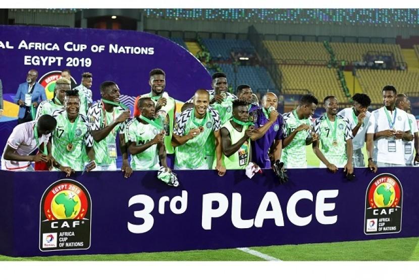 Tim Nigeria menempati peringkat ketiga Piala Afrika 2019.