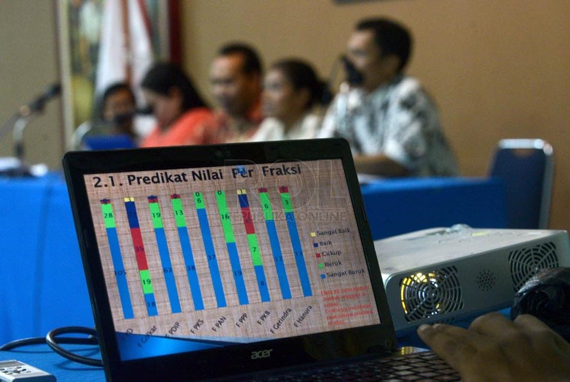 Tim peneliti Forum Masyarakat Peduli Parlemen Indonesia (FORMAPPI)