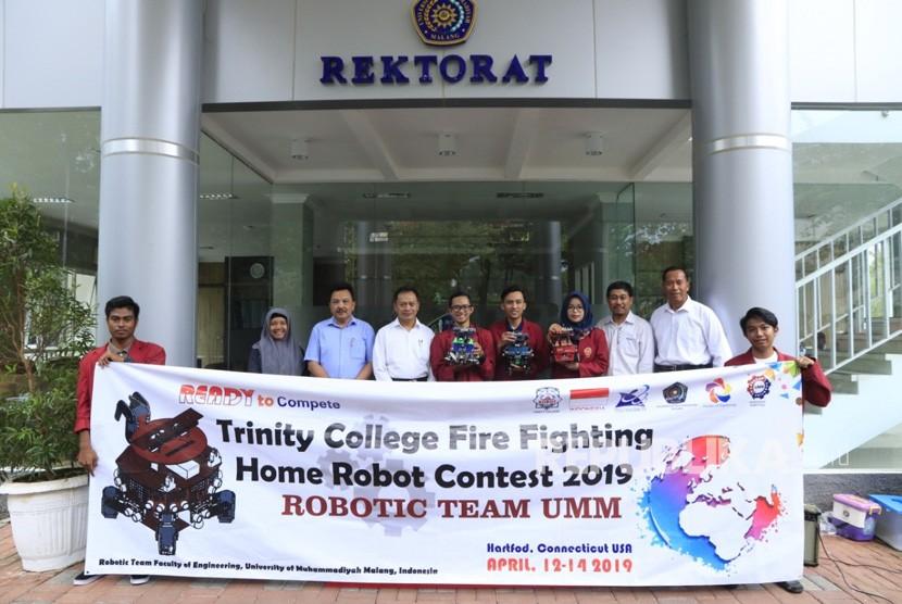 Tim Robotika Universitas Muhammadiyah Malang (UMM) akan kembali bertanding  di tingkat internasional pada 13 sampai 15 April 2019 di Trinity College  Hartford Connecticut, Amerika Serikat.