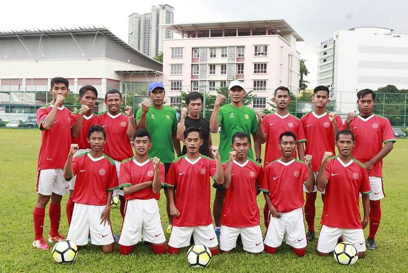 Tim sepak bola celebral palsy Indonesia.
