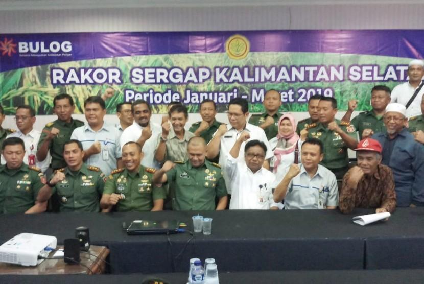 Tim Serap Gabah/beras petani (Sergap) Provinsi Kalimantan Selatan dalam Rakor Sergap Kalsel.
