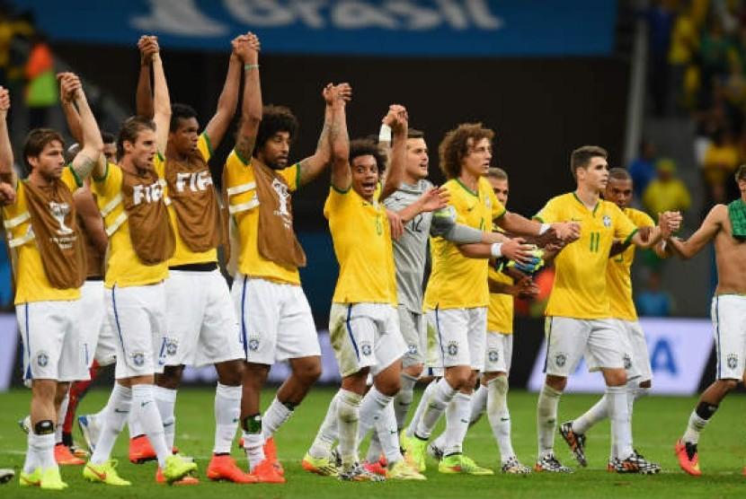Timnas Brasil di Piala Dunia 2014.