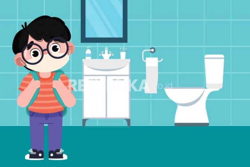 Tips menggunakan toilet sekolah di masa pandemi.