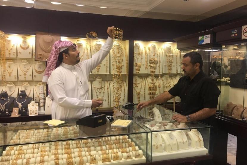 Toko emas di Arab Saudi.