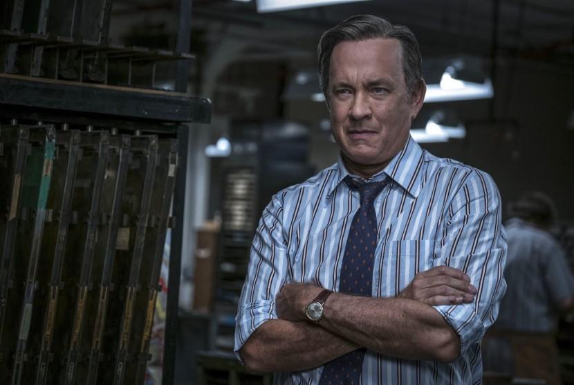 Tom Hanks dalam film The Post.