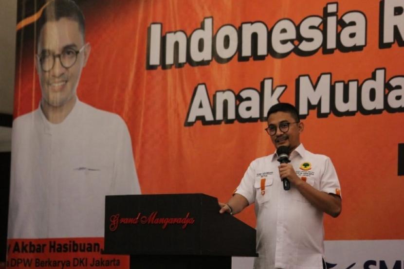 Ketua DPW Partai Berkarya Provinsi DKI Jakarta, H Tony Akbar Hasibuan, menilai perlunya peran generasi milenial