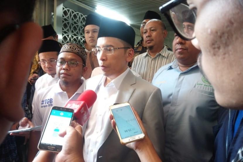 Tuan Guru Bajang (TGB) Muhammad Zainul Majdi  di Masjid Istiqlal, Jakarta, Ahad (8/7).