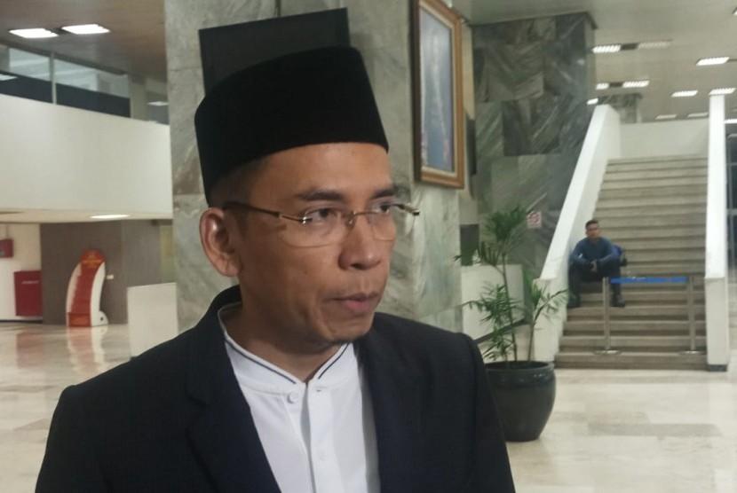 Tuan Guru Bajang Zainul Majdi di Kompleks Parlemen, Jakarta, Kamis (31/1).