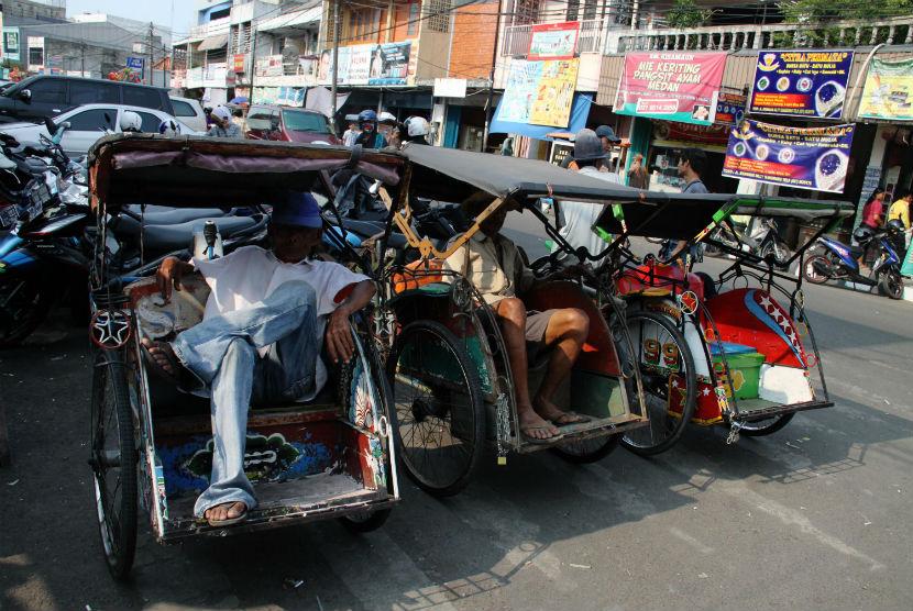Tukang becak (ilustrasi)