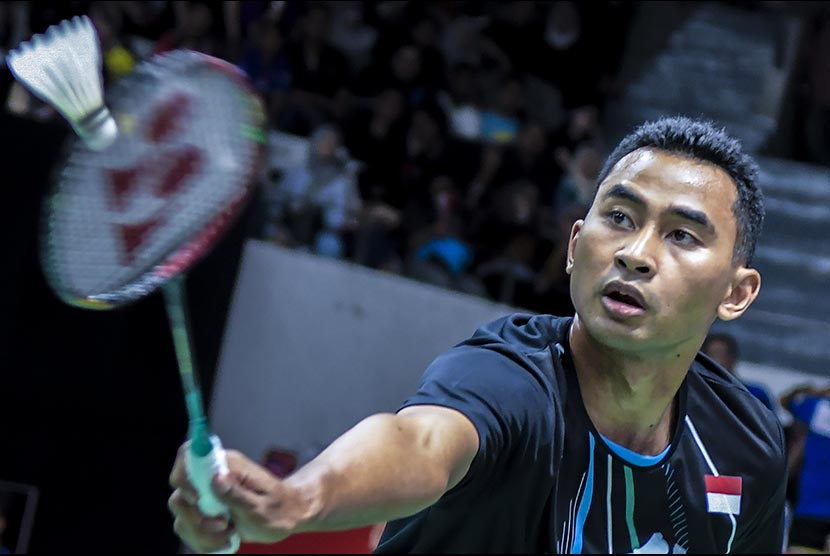 Tunggal putra Indonesia Tommy Sugiarto.