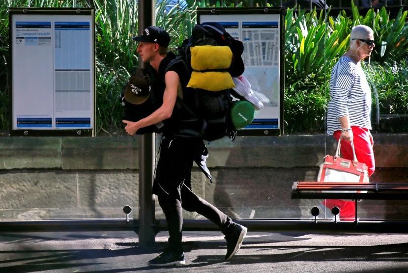 Turis backpacker.