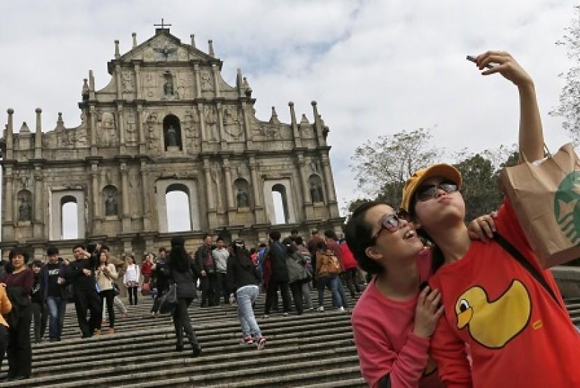 Turis Cina. Ilustrasi
