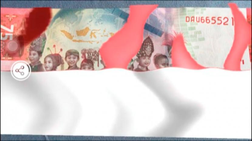 Uang baru Rp.75 ribu edisi Kemerdekaan RI.
