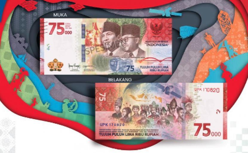 Makna Tersimpan di Balik Gambar Pecahan Uang Rp 75 Ribu | Republika Online