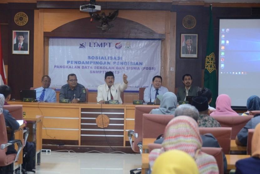 UIN Sunan Kalijaga Yogyakarta menggelar sosialisasi pendampingan pengisian PDSS SNMPTN 2019.