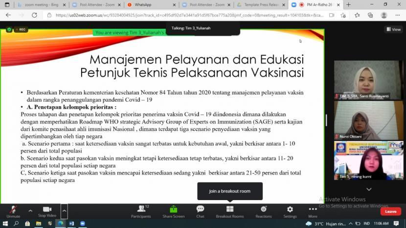 """Universitas BSI (Bina Sarana Informatika) Fakultas Ekonomi dan Bisnis mengadakan kegiatan pengabdian masyarakat yang bertempat di Panti Asuhan Ar-Ridho Depok, Jawa Barat, dengan tema """"Penyuluhan Manajemen Pelayanan dan Edukasi Pemberian Vaksin Covid-19."""