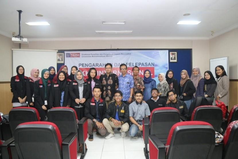 Universitas Muhammadiyah Malang (UMM) melalui Direktorat Penelitian dan Pengabdian Masyarakat (DPPM) melaksanakan Kuliah Kerja Nyata (KKN) Internasional. KKN Internasional yang diikuti 97 mahasiswa ini akan dilaksanakan di enam negara seperti Turki, Thailand, Malaysia, Cina, Kamboja dan Taiwan.