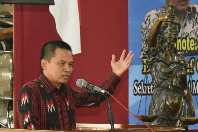 Unsoed bekerja sama dengan MPR melakukan sosialisasi empat pilar di kampus Universitas Jendral Soedirman Purwokerto.