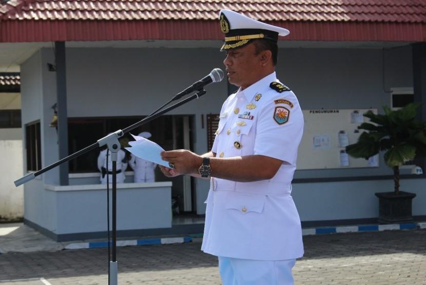 Upacara memeringari Hari Armada di Lanal Yogyakarta.