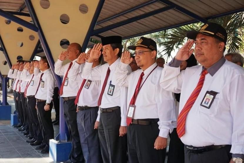 Upacara Peringatan Hari Kesaktian Pancasila di Bea Cukai Sulbagsel..