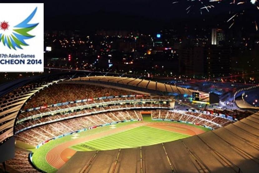 Upara pembukaan Asian Games 2014 Incheon, Korea Selatan.