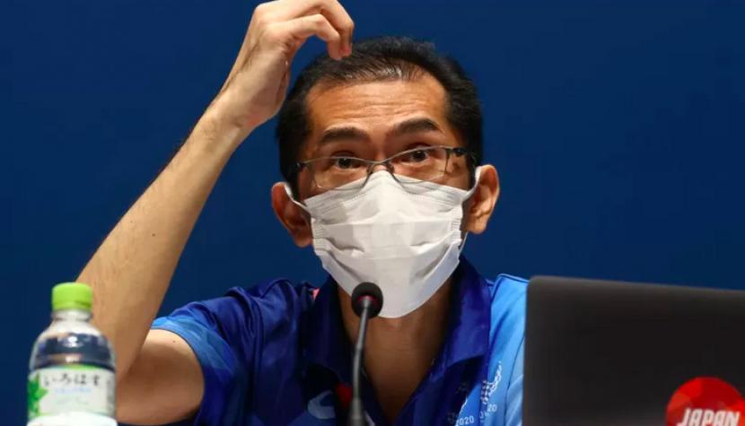 uru bicara panitia penyelenggara Olimpiade Tokyo 2020, Masa Takaya, dalam sebuah temu media di Tokyo pada 22 Juli 2021.