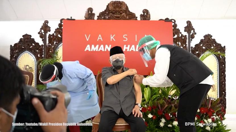 Vaksinasi Wakil Presiden RI, Maruf Amin
