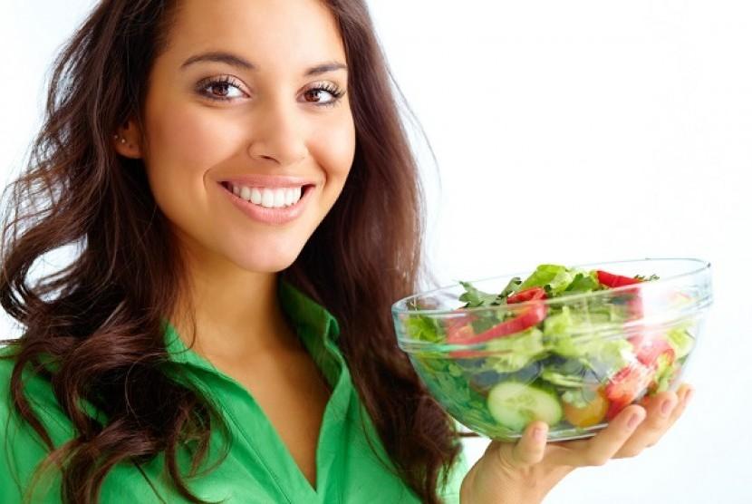 Vegetarian wanita (Ilustrasi)