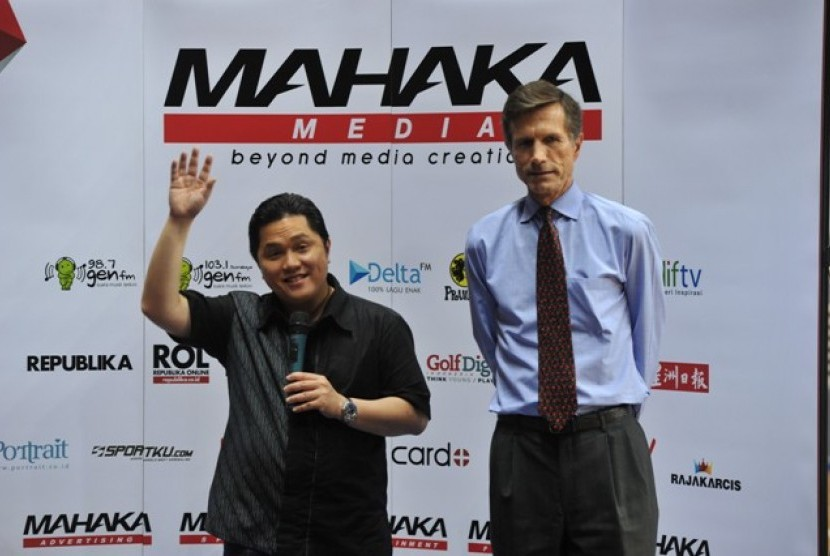 Vice of President Commisioner PT Mahaka Media Tbk. Erick Thohir dan Dubes AS Robert Blake