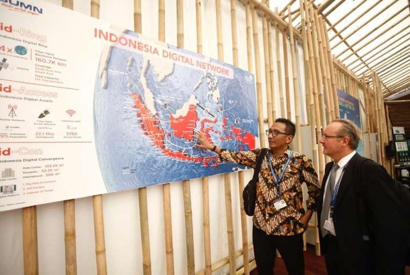 Vice President Corporate Communication Telkom, Arif Prabowo di Indonesia Pavilion.