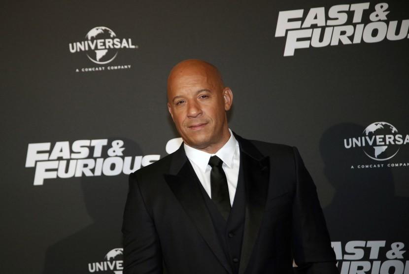 Vin Diesel, pemeran Dominic Toretto dalam film aksi Fast and Furious.