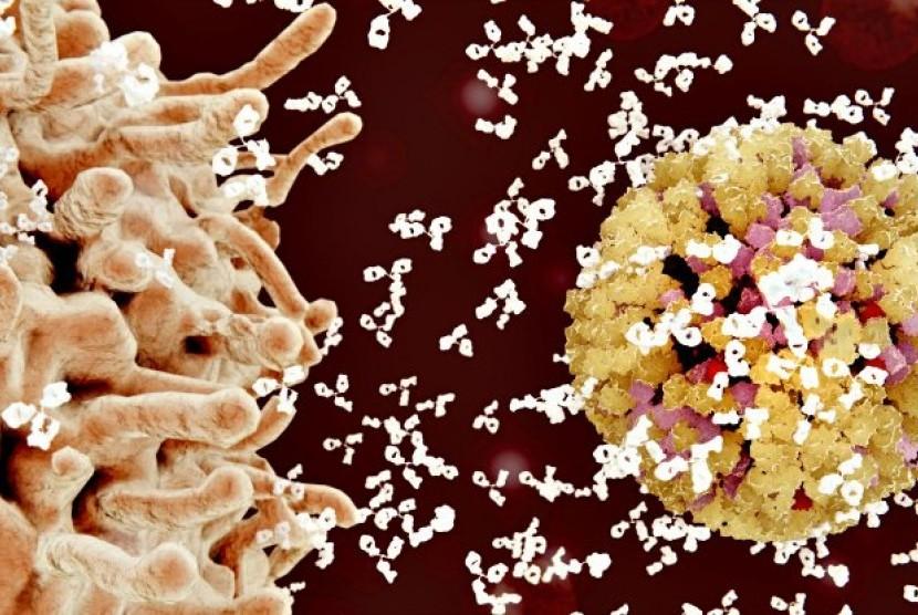 Virus HIV. ilustrasi