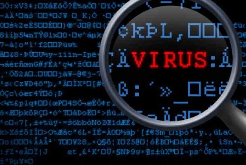 Virus komputer (ilustrasi)