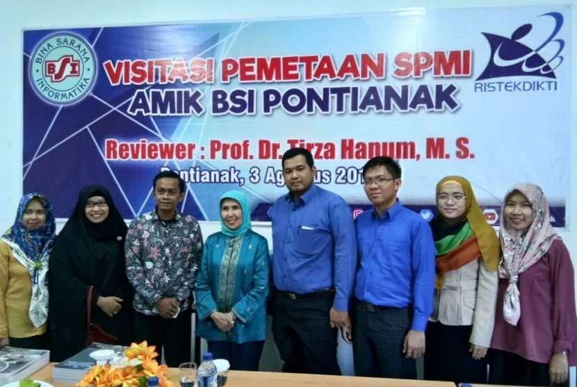 Visitasi Direktorat Penjamin Mutu Kemenristekdikti ke AMIK BSI Pontianak.
