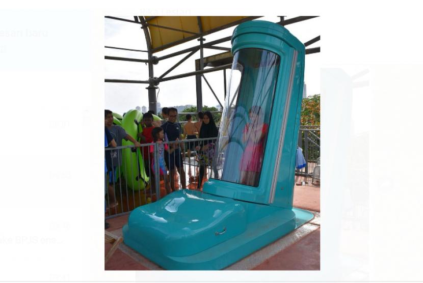 Wahana Sky Box yang didatangkan langsung dari Eropa dan satu-satunya di Jakarta.