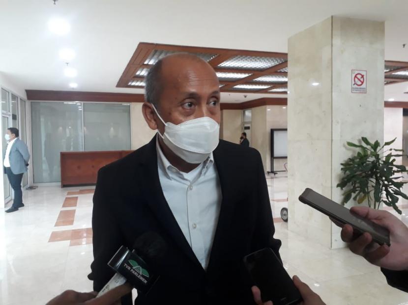 Waki Ketua Komisi II DPR, Saan Mustopa di Kompleks Parlemen Senayan.