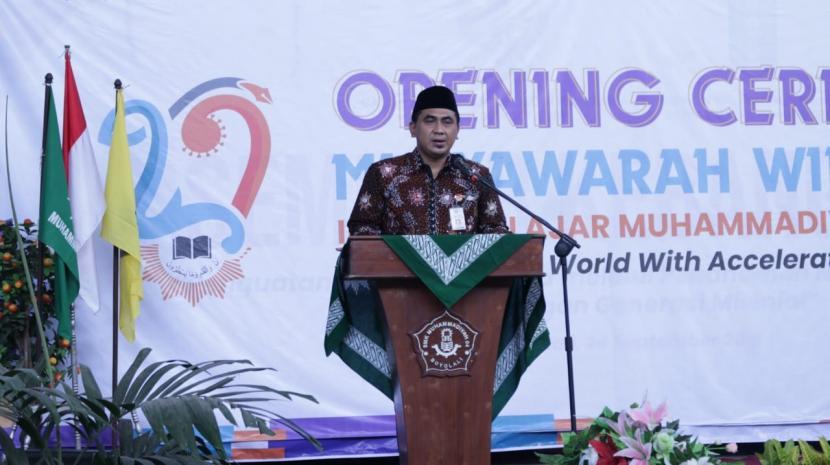 Wakil Gubernur Jawa Tengah, Taj Yasin Maimoen, membuka Musyawarah Wilayah XXIV Ikatan Pelajar Muhammadiyah (IPM) Jawa Tengah di SMK Muhammadiyah 4 Boyolali, Jumat (24/9).