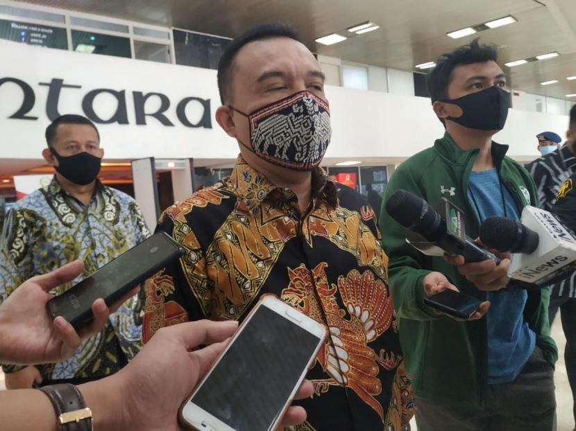 Wakil Ketua DPR Sufmi Dasco Ahmad saat ditemui di Kompleks Parlemen Senayan, Jakarta, Selasa (4/8).