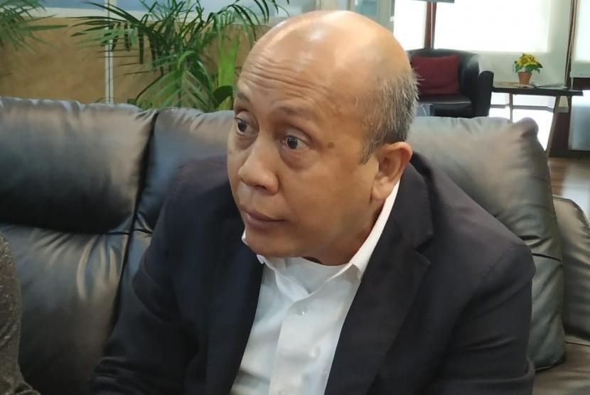 Wakil Ketua Komisi II DPR Saan Mustopa saat ditemui di Kompleks Parlemen Senayan, Jakarta, Senin (16/12).