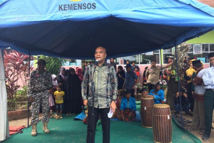 Wakil Ketua Komisi VIII DPR RI Marwan Dasopang mengunjungi masyarakat Kampung Siaga Bencana (KSB) Dusun Parangmalengu, Desa Panakukkang, Kecamatan Pallangga, Kabupaten Gowa, Provinsi Sulawesi Selatan.