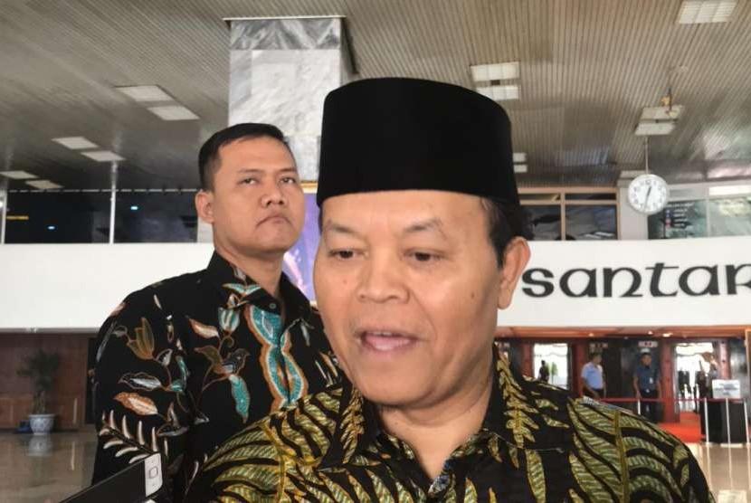 Wakil Ketua MPR Hidayat Nur Wahid di Kompleks Parlemen Senayan, Jakarta, Kamis  (11/10).
