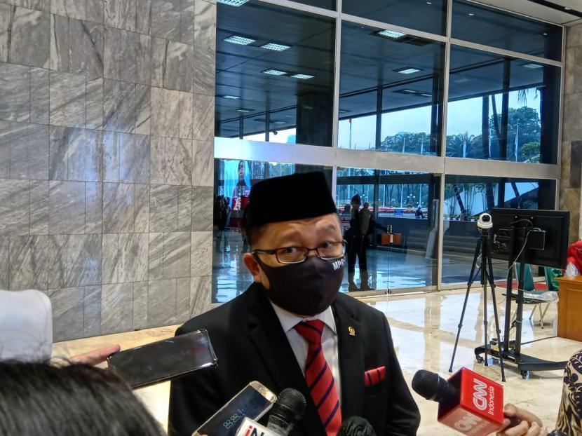 Anggota Komisi III DPR Arsul Sani saat ditemui di Kompleks Parlemen Senayan, Jakarta.